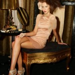 Mode wearing Zhivago Hand frayed Silk Dress and Hairstyled by Chilli Couture