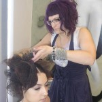 Chilli Couture Hair Stylist Laura on the work for Zhivago model