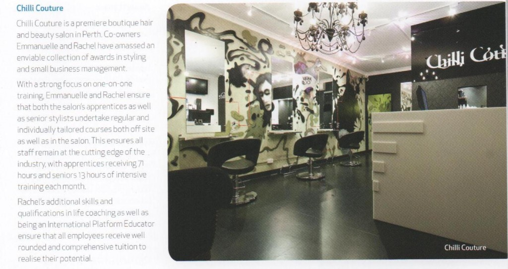 Award Winner Perth Salon in WA Training Awards | Chilli Couture
