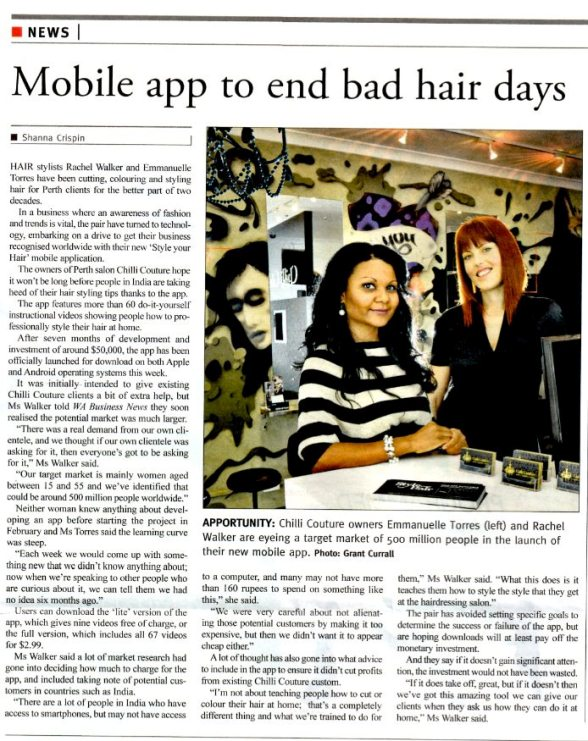 Mobile App to end bad hair days