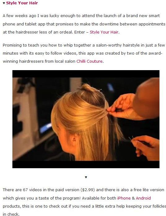 Style Your Hair reviewed on Wellness W.A
