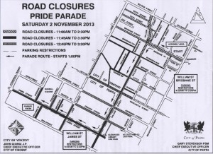 Pride road closures