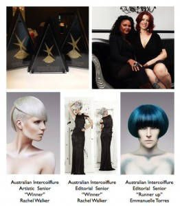 Australian Intercoiffure Awardees - Rachel Walker & Emmanelle Torres
