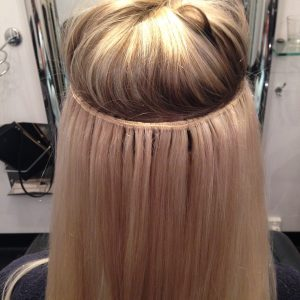 best hairdresser perth installs long hair extensions