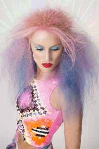 AHFA Awards Chilli Couture  Photo Entry - 80's club scene pink to blue ombre textured hairstyle
