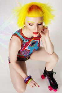 AHFA Awards Chilli Couture  Photo Entry - Vibrant Yellow Colored with a touch of Red in front Short Hair  Style