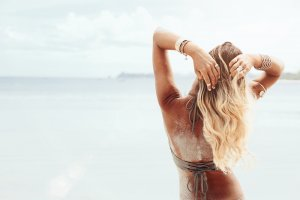 Hair Extensions at the Beach