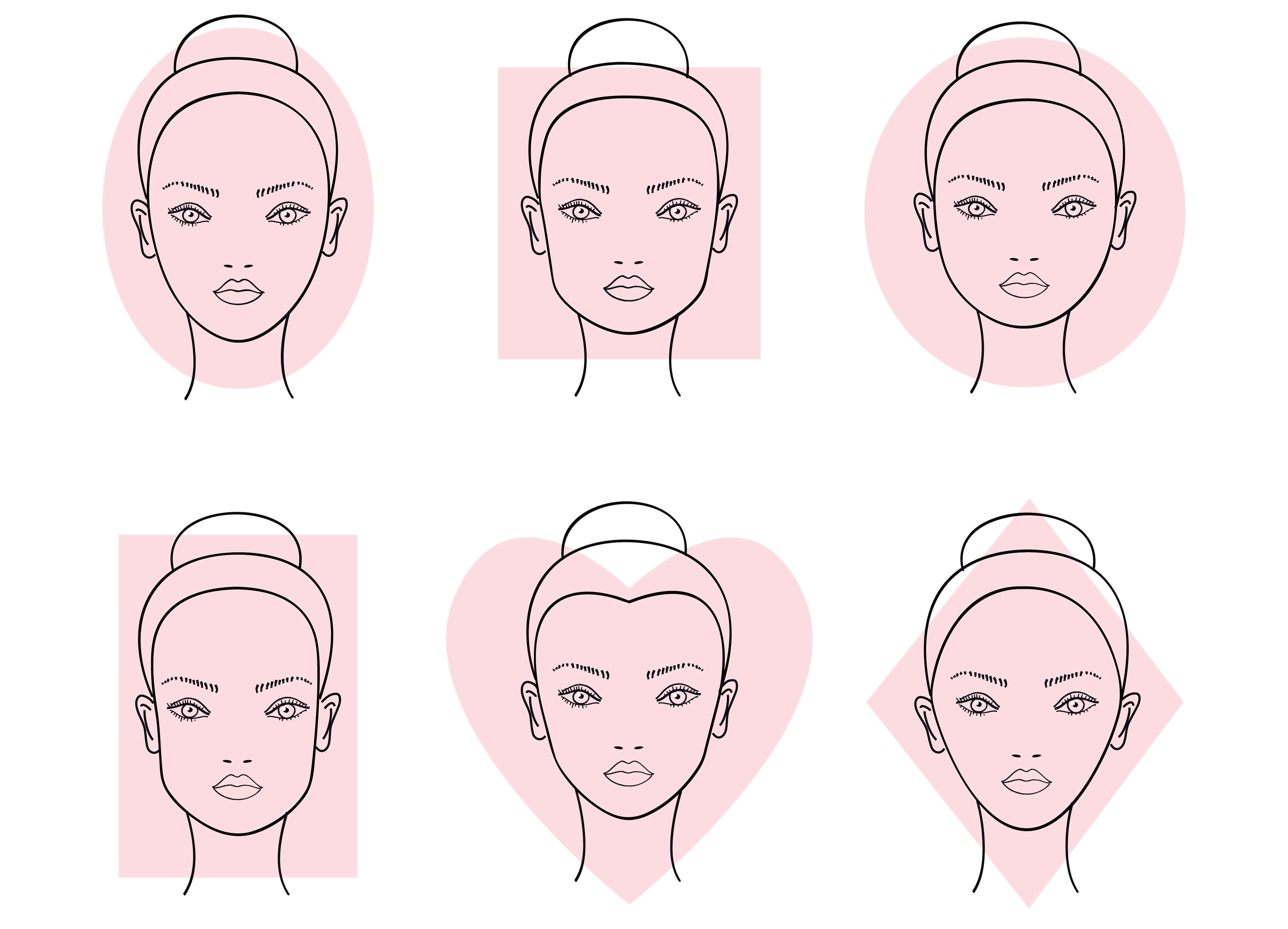 Face Shapes Diagram