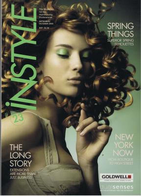 Instyle Magazine Oct 2008 cover